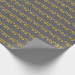 [ Thumbnail: Gray, Faux Gold 86th (Eighty-Sixth) Event Wrapping Paper ]