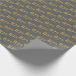 [ Thumbnail: Gray, Faux Gold 87th (Eighty-Seventh) Event Wrapping Paper ]