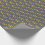 [ Thumbnail: Gray, Faux Gold 89th (Eighty-Ninth) Event Wrapping Paper ]