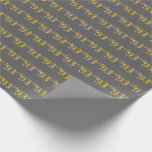 [ Thumbnail: Gray, Faux Gold 93rd (Ninety-Third) Event Wrapping Paper ]
