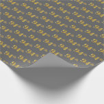 [ Thumbnail: Gray, Faux Gold 94th (Ninety-Fourth) Event Wrapping Paper ]
