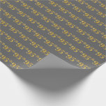 [ Thumbnail: Gray, Faux Gold 95th (Ninety-Fifth) Event Wrapping Paper ]