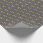 [ Thumbnail: Gray, Faux Gold 9th (Ninth) Event Wrapping Paper ]