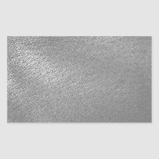 Gray (Faux) Leather Look Rectangular Sticker