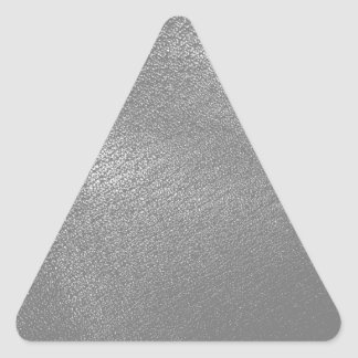 Gray (Faux) Leather Look Triangle Stickers