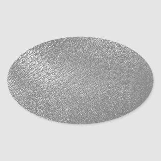 Gray (Faux) Leather Look Oval Stickers