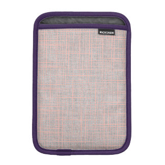 Gray Faux Linen canvas checkers iPad Mini Sleeve