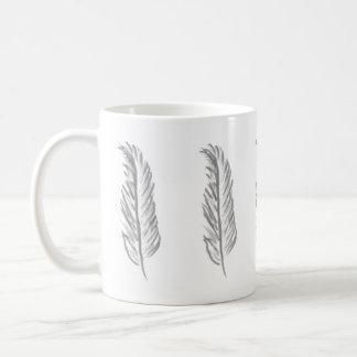 Gray Feather design Coffee Mug