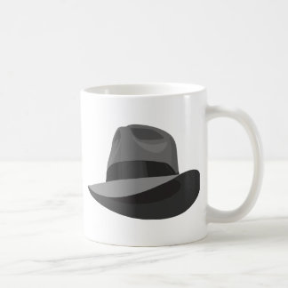 Gray Fedora wide ribbon Coffee Mug