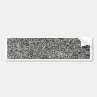 Gray felt fabric bumper sticker