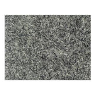 Gray felt fabric postcard