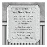 """Gray Flannel 5.25"""" Square Invitation Card"""