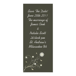"""Gray Floral """"Save the Date"""" invite"""
