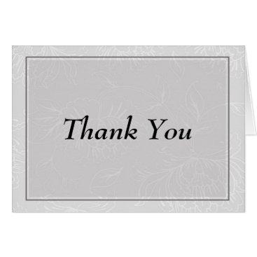partridgelanestudio Gray Floral Thank You Card