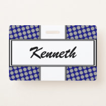 Gray Flower Ribbon by Kenneth Yoncich Badge