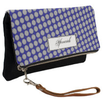 Gray Flower Ribbon by Kenneth Yoncich Clutch