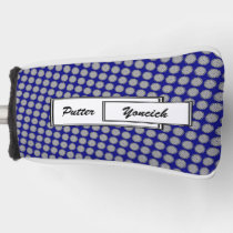 Gray Flower Ribbon by Kenneth Yoncich Golf Head Cover