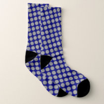 Gray Flower Ribbon by Kenneth Yoncich Socks