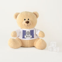 Gray Flower Ribbon by Kenneth Yoncich Teddy Bear
