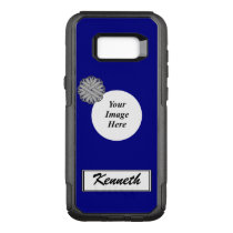 Gray Flower Ribbon Template by Kenneth Yoncich OtterBox Commuter Samsung Galaxy S8  Case