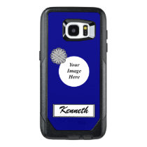 Gray Flower Ribbon Template by Kenneth Yoncich OtterBox Samsung Galaxy S7 Edge Case