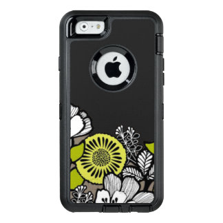 Gray Flowers OTTER Box iPhone 6/6s Case