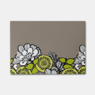 Gray Flowers PostIt Notes Post-it® Notes