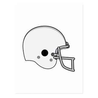 Gray football helmet postcard