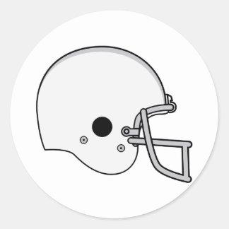 Gray football helmet classic round sticker