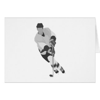 Gray Forward Hockey Player Card