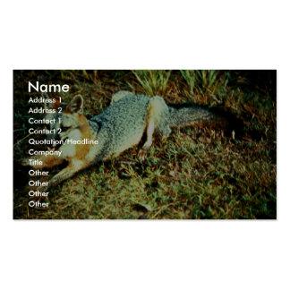 Gray Fox Business Card