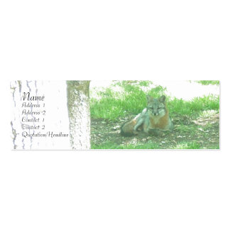 Gray Fox Profile Card Double-Sided Mini Business Cards (Pack Of 20)