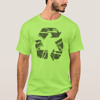 Gray Fractured Recycling Sign T-Shirt
