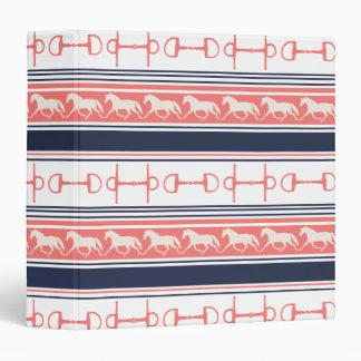 Gray Galloping Horses Pattern Vinyl Binders