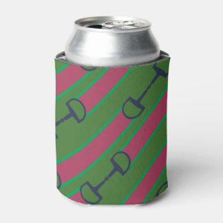 Gray Galloping Horses Pattern Can Cooler