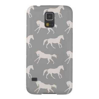 Gray Galloping Horses Pattern Galaxy S5 Case