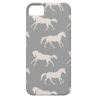 Gray Galloping Horses Pattern iPhone SE/5/5s Case