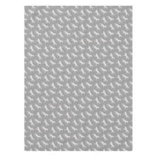 Gray Galloping Horses Pattern Tablecloth