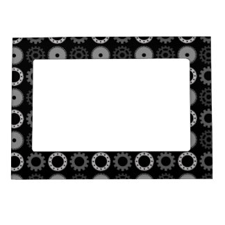 Gray Gears Magnetic Photo Frame