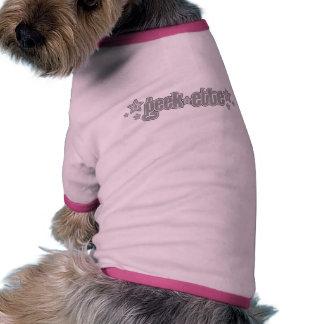 Gray Geekette Dog T Shirt