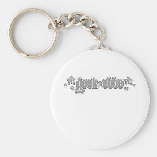 Gray Geekette Keychain