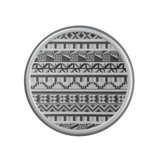 Gray Geometric Abstract Aztec Tribal Print Pattern Speaker