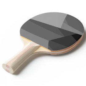 Gray Geometric Blocks Ping Pong Paddle Ping-Pong Paddle