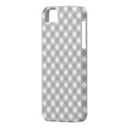 Gray Gingham Checkered iPhone 5 Case