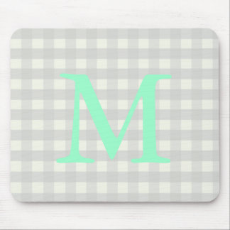 Gray Gingham Mouse Pad