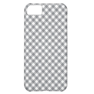 Gray Gingham Pattern iPhone Case iPhone 5C Cases