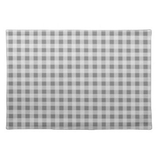 Gray Gingham Placemat