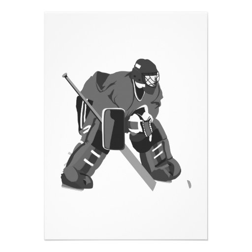 Gray Goalie Hockey Personalized Announcement