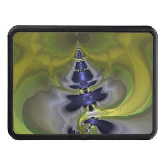 Gray Goblin in Green, Abstract Fun Spooky Imp Hitch Cover