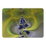 Gray Goblin in Green, Abstract Fun Spooky Imp 5x7 Paper Invitation Card